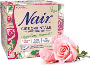 Cire orientale aux sucres à l'extrait de rose