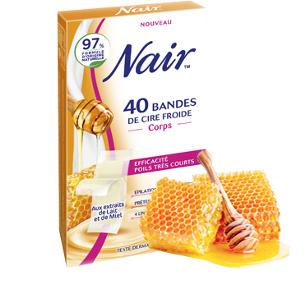 Bandes de cire froide aux extraits de lait et de miel
