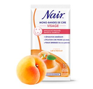 Bandes de Cire Froide  spécial Visage aux extraits de lait d'abricot